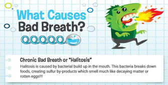 What causes bad breath and what can you do to help?